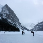 Skating on Lake Louise