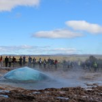 Strokkur geyser starting to bubble up