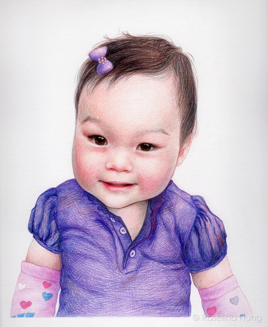 Olivia - coloured pencil on paper, 8x10 in, 2013